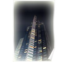 skyscrapers in the night Poster