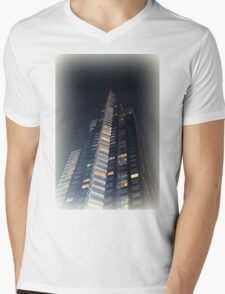 skyscrapers in the night Mens V-Neck T-Shirt