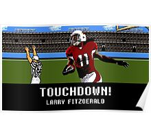 Tecmo Bowl Touchdown Larry Fitzgerald Poster