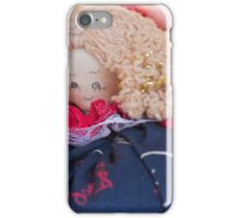 old doll fabric iPhone Case/Skin