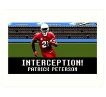 Tecmo Bowl Patrick Peterson Art Print