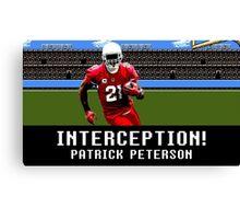 Tecmo Bowl Patrick Peterson Canvas Print