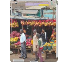 Street fruit market near Maungu, KENYA iPad Case/Skin