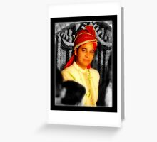 Indian Groom Greeting Card