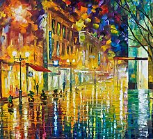 SCENT OF RAIN - Original Art Oil Painting By Leonid Afremov by Leonid  Afremov