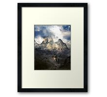 The Fall of Light from a Dragon Flame. Framed Print