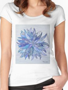 Zen flower Women's Fitted Scoop T-Shirt