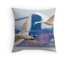 Trumpeter Swans at Lasalle Park Throw Pillow