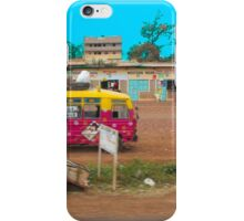 Bus stop on A109 Mombasa Road, KENYA iPhone Case/Skin