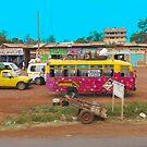 Bus stop on A109 Mombasa Road, KENYA by Atanas NASKO
