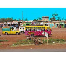 Bus stop on A109 Mombasa Road, KENYA Photographic Print