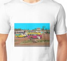 Bus stop on A109 Mombasa Road, KENYA Unisex T-Shirt
