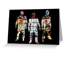 Grand Theft Auto 5, 3 Silhouettes Greeting Card