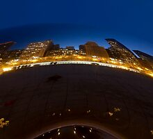 Cloudgate at twilight by Sven Brogren
