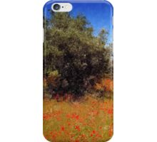Olive Trees and Poppies iPhone Case/Skin