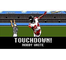 Tecmo Bowl Touchdown Roddy White Photographic Print