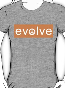 Evolve: Coexist in Peace (tangerine version) T-Shirt