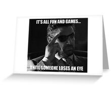 IT'S ALL FUN AND GAMES - Deathstroke Greeting Card