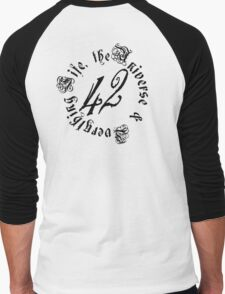 Life, the Universe and Everything, version 2.0 Men's Baseball ¾ T-Shirt