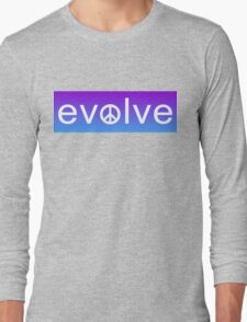 Evolve: Coexist in Peace (purple fade version) Long Sleeve T-Shirt