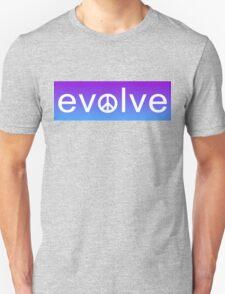 Evolve: Coexist in Peace (purple fade version) Unisex T-Shirt