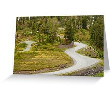 Curvy Road to Artist Point Greeting Card