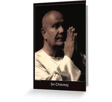 Sri Chinmoj Greeting Card