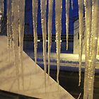 Cold Night Staring out my Studio Window by linmarie