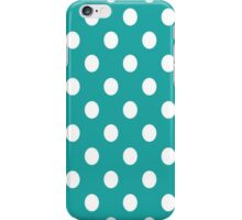 Turquoise Polka Dots iPhone Case/Skin