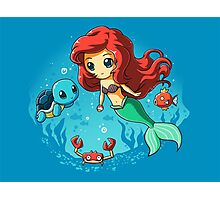 The Little Mermaid Pokemon Photographic Print