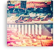 French Farmers Market Canvas Print