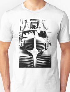 Old Firetruck in Black & White T-Shirt