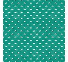 Dinosaur Pattern x Stegosaurus (Green and White) Photographic Print
