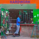 Colourful workshop in Nairobi, KENYA by Bruno Beach