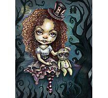 Dark Magic Voodoo Girl Photographic Print