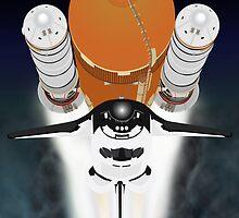 Space shuttle by wetchickenlip