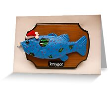 Kraygor the Cyber Fish Greeting Card