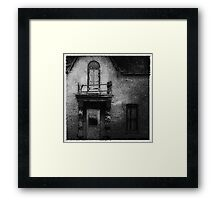 Out on the Balcony Framed Print