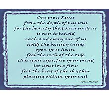 Cry me a River - Word Art Photographic Print