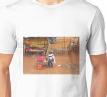 Local woman selling tomatoes on Mombasa Road, KENYA Unisex T-Shirt