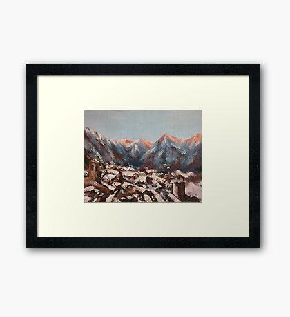 Sunrise in the Alps Framed Print