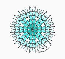 Knit Stitch Starburst Turquoise Gradient Unisex T-Shirt