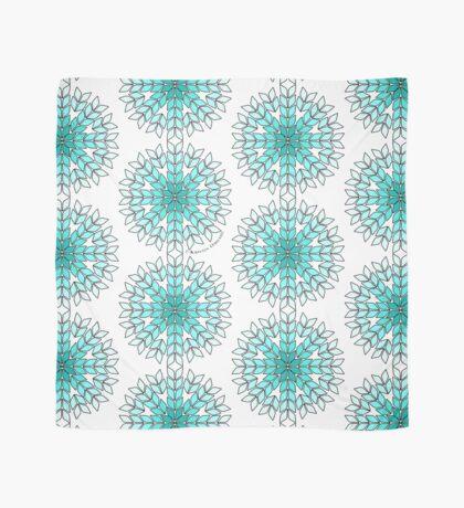 Knit Stitch Starburst Turquoise Gradient Scarf