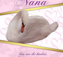 Nana Mother's Day Card With Swan by Moonlake