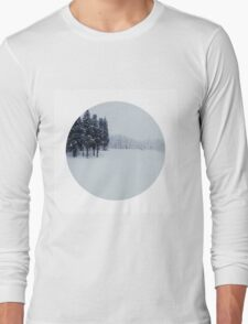 The earth lay white under the night sky Long Sleeve T-Shirt