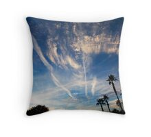 Contrails Throw Pillow