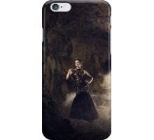 Mystic fantasy girl in a cave iPhone Case/Skin