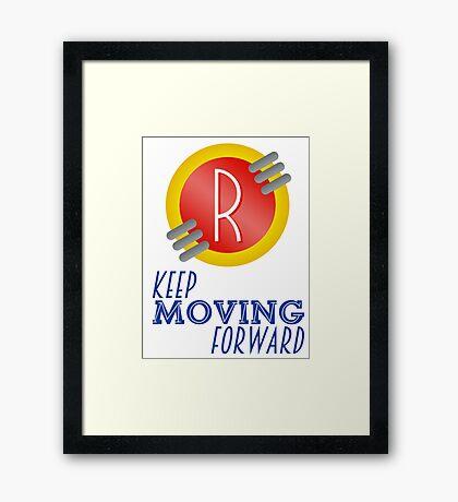 Keep Moving Forward - Meet the Robinsons Framed Print