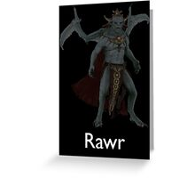 Rawr - Vampire Lord Greeting Card