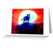 "Trippy ""Cosmic Cat"" by Artist VCalderon Greeting Card"